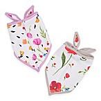 Little Unicorn™ 2-Pack Cotton Muslin Bandana Bib in Summer Poppy