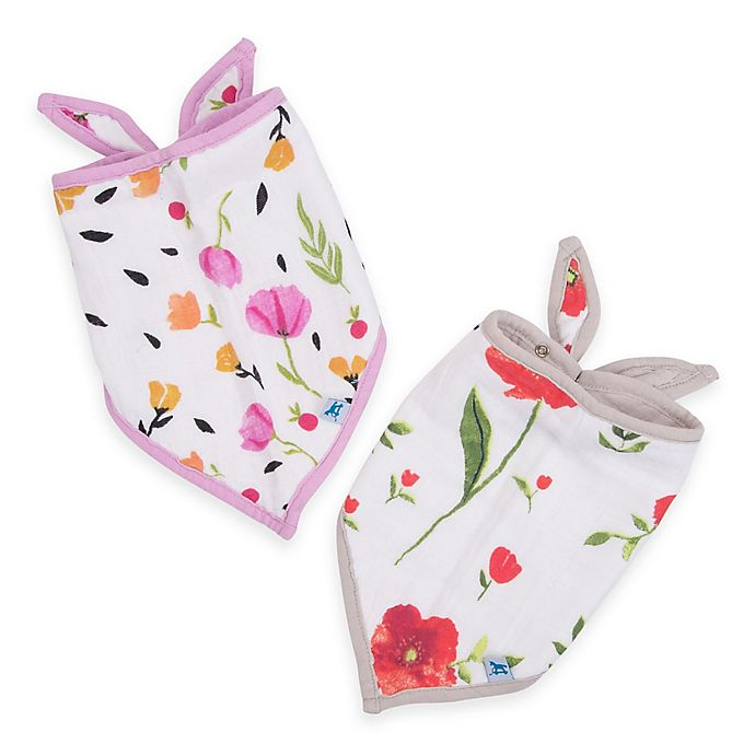 Alternate image 1 for Little Unicorn™ 2-Pack Cotton Muslin Bandana Bib