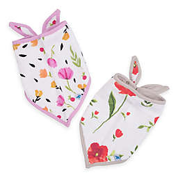 Little Unicorn™ 2-Pack Cotton Muslin Bandana Bib