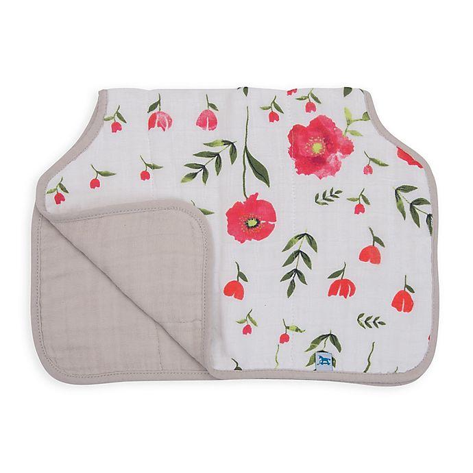 Alternate image 1 for Little Unicorn™ Cotton Muslin Burp Cloth in Summer Poppy