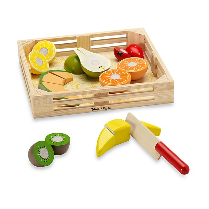 Alternate image 1 for Melissa & Doug® Wooden Fruit Crate Cutting