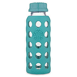 Lifefactory® 9 oz. Flat Cap Glass Baby Bottle with Protective Sleeve