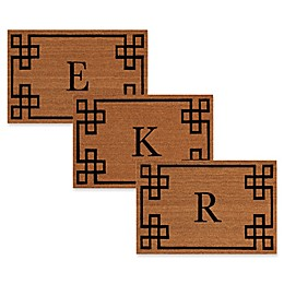 Nourison Elegant Entry Monogrammed Letter 12-Inch x 24-Inch Door Mat