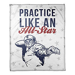 "Designs Direct ""Practice Like an All-Star"" Fleece Football Blanket"