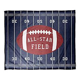 "Designs Direct ""All-Star Field"" Fleece Football Blanket"