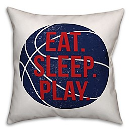 "Designs Direct ""Eat, Play, Sleep"" Basketball Throw Pillow"