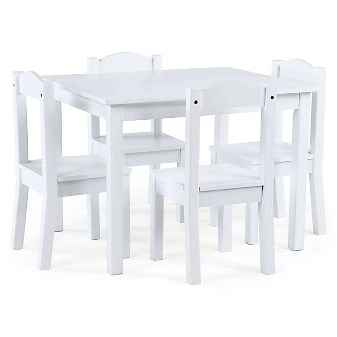 Alternate image 1 for Tot Tutors Cambridge 5-Piece Table & Chairs Set in White