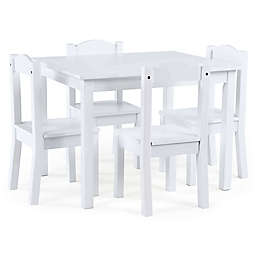 Tot Tutors Cambridge 5-Piece Table & Chairs Set in White