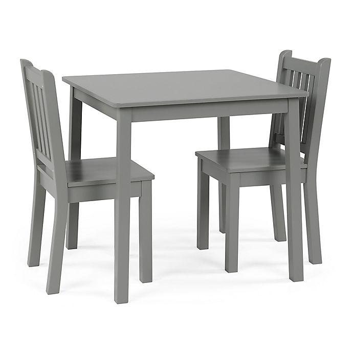 Alternate image 1 for Tot Tutors Curious Lion 3-Piece Square Table & Chairs Set in Grey