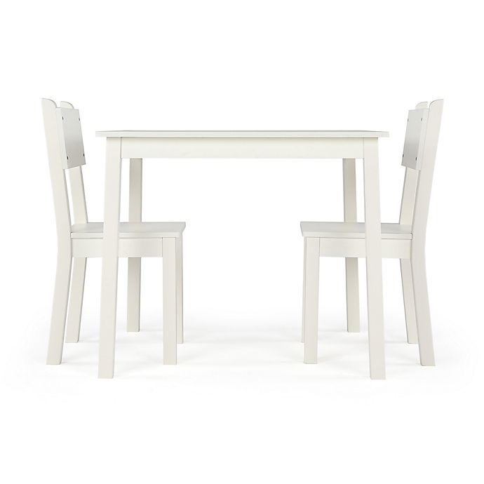 Alternate image 1 for Tot Tutors Curious Lion 3-Piece Table & Chairs Set in White