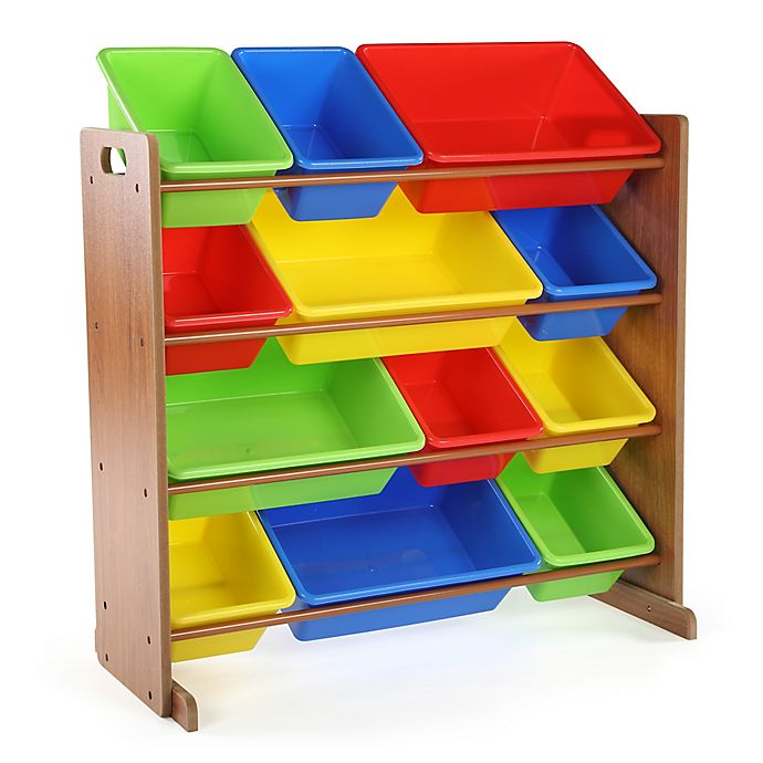 Alternate image 1 for Humble Crew Highlight Toy Organizer in Pine with 12 Bins