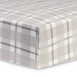 Trend Lab®  Plaid Flannel Fitted Crib Sheet in Grey