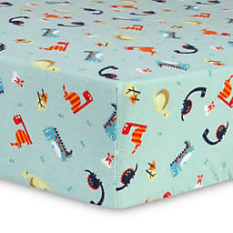 Trend Lab® Dinosaurs Flannel Fitted Crib Sheet