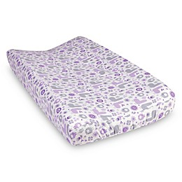 Trend Lab® Llama Friends Flannel Changing Pad Cover in Purple