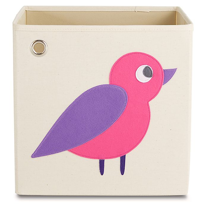 Alternate image 1 for kaikai & ash Bird Kid's Canvas Storage Bin in Purple