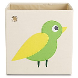 kaikai & ash Bird Kid's Canvas Storage Bin in Green