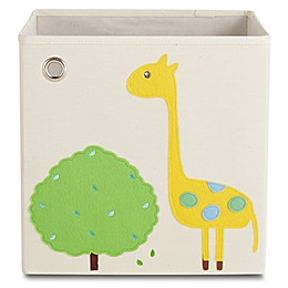 kaikai & ash Giraffe Kid's Canvas Storage Bin in Yellow/Green