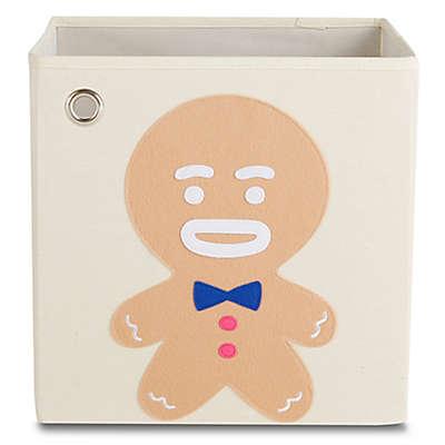 kaikai & ash Gingerbread Kid's Canvas Storage Bin in Brown/Blue