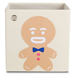 kaikai & ash Gingerbread Kid's Canvas Storage Bin in Brown/Blue