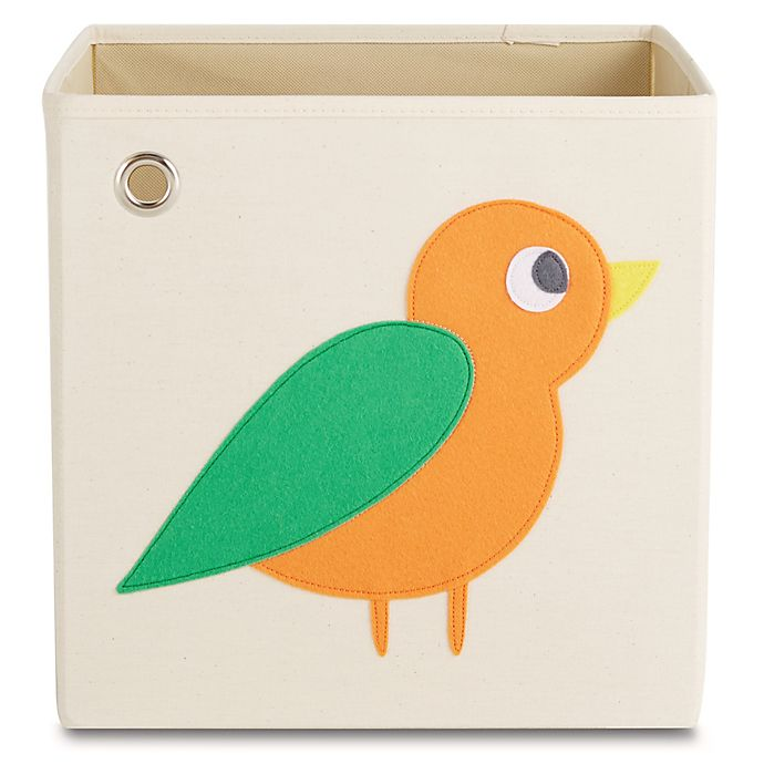 Alternate image 1 for kaikai & ash Bird Kid's Canvas Storage Bin