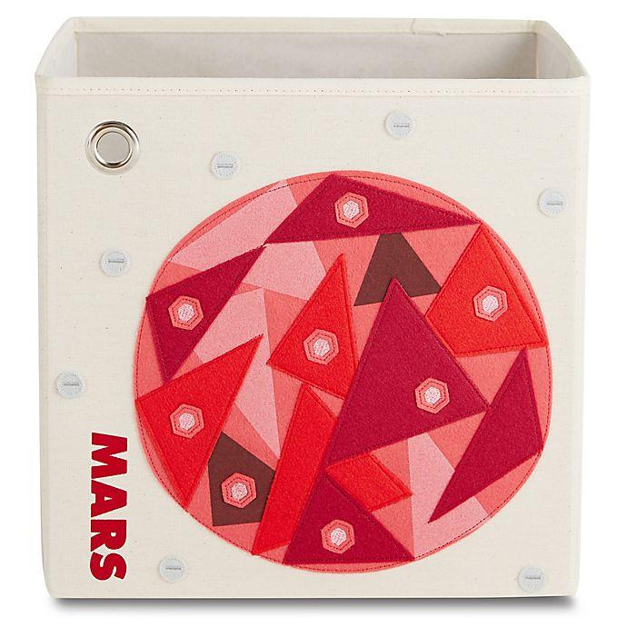 Alternate image 1 for kaikai & ash Mars Kid's Canvas Storage Bin in Red