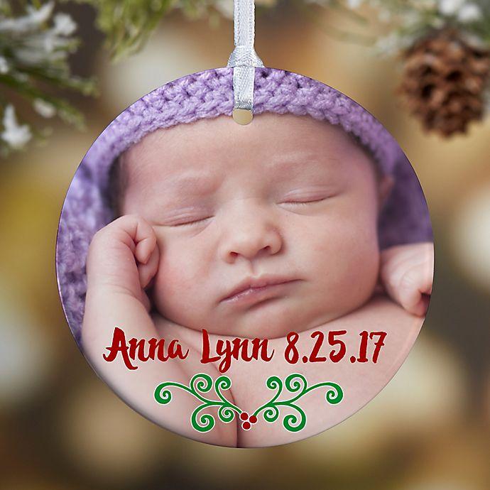 Alternate image 1 for Baby's 1st Christmas Calendar 1-Sided Glossy Christmas Ornament