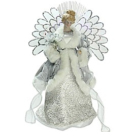 13.5-Inch Angel Christmas Tree Topper with Multicolor Lights