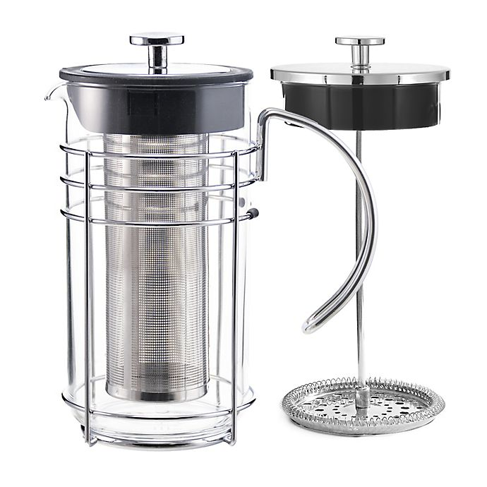 Alternate image 1 for Grosche Madrid 12-Cup 4-in-1 Coffee and Tea French Press in Chrome