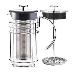 Grosche Madrid 12-Cup 4-in-1 Coffee and Tea French Press in Chrome
