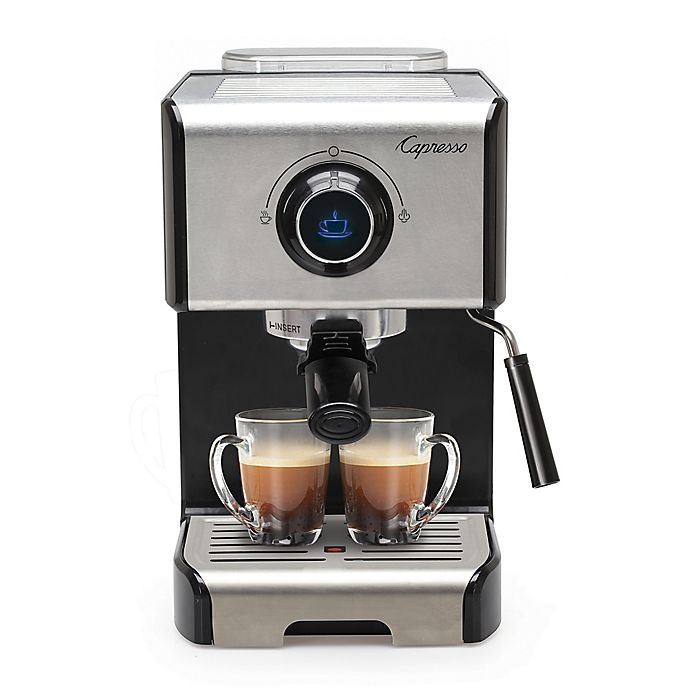 Alternate image 1 for Capresso® EC300 Espresso & Cappuccino Machine in Black/Stainless Steel