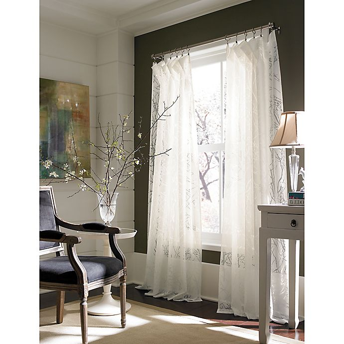 Alternate image 1 for Branchbrook Window Curtain Panel in White