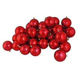 Northlight 4-Inch Shatterproof Shiny Christmas Ball Ornaments (Set of 12)