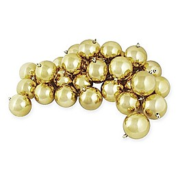Northlight 4-Inch Shatterproof Shiny Christmas Ball Ornaments (Set of 12)