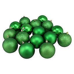 Northlight 16-Pack 3-Inch Christmas Ball Ornaments in Green