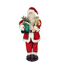 Dancing Santa Christmas Figurine in Red