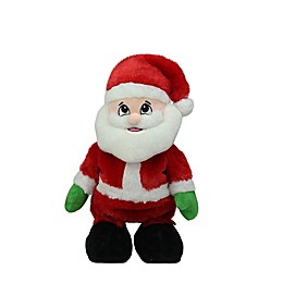 Northlight 12-Inch Animated Tickle 'n Laugh Santa Figure