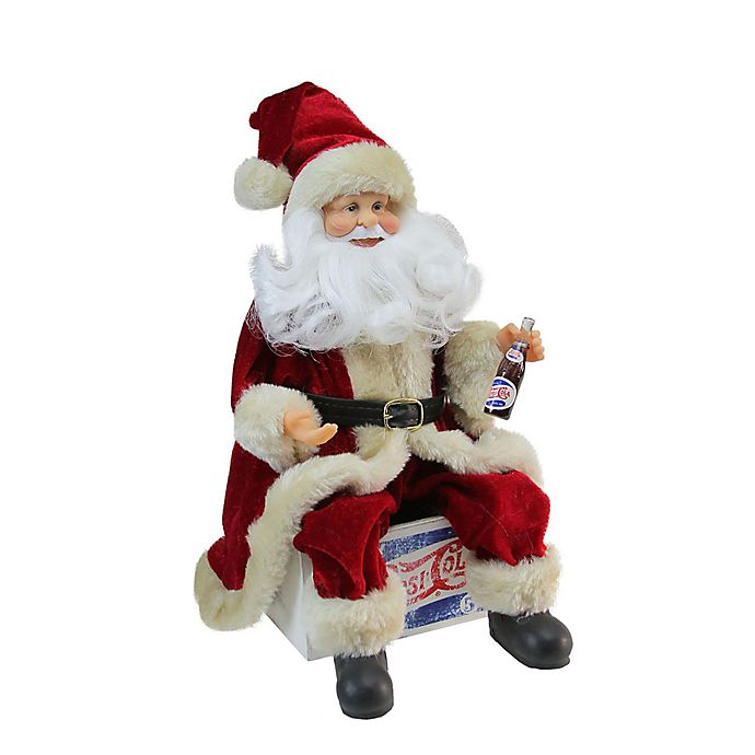 Northlight 12 Inch Pepsi Cola Sitting Santa Claus Figurine