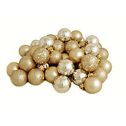 Northlight 32-Pack Christmas Ball Ornaments in Gold