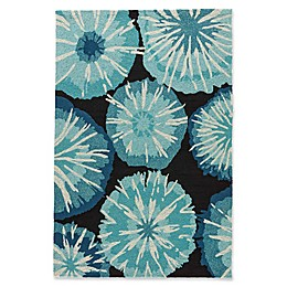 Jaipur Starburst Rug in Blue/Red