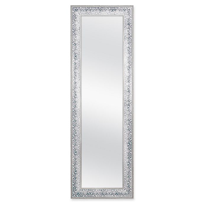 Alternate image 1 for Sand Dollar 17.5-Inch x 53.5-Inch Over-the-Door Mirror in Blue