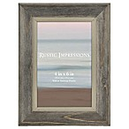Rustic Wood 4-Inch x 6-Inch Picture Frame in Grey/Grey