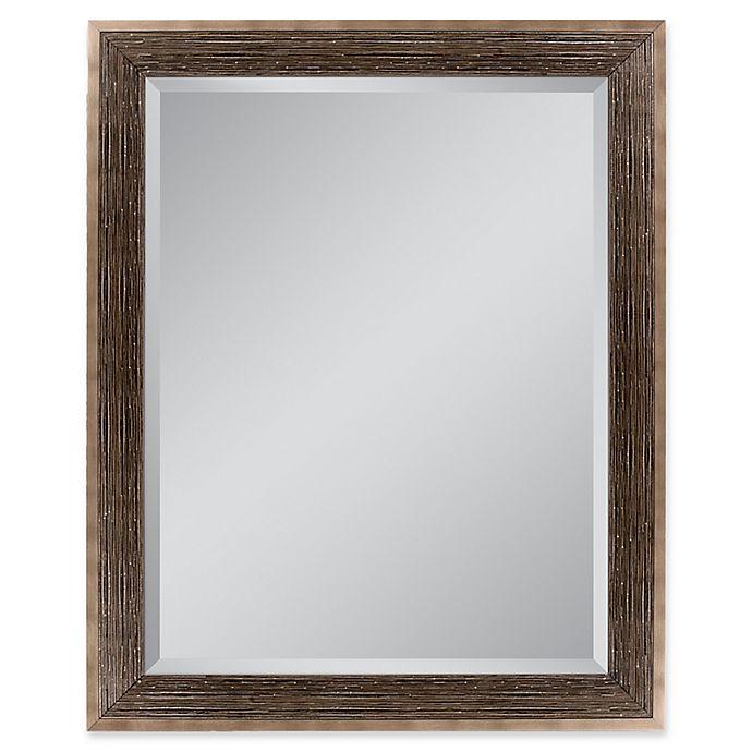 Alternate image 1 for Driftwood 27.5-Inch x 33.5-Inch Rectangular Mirror in Bronze