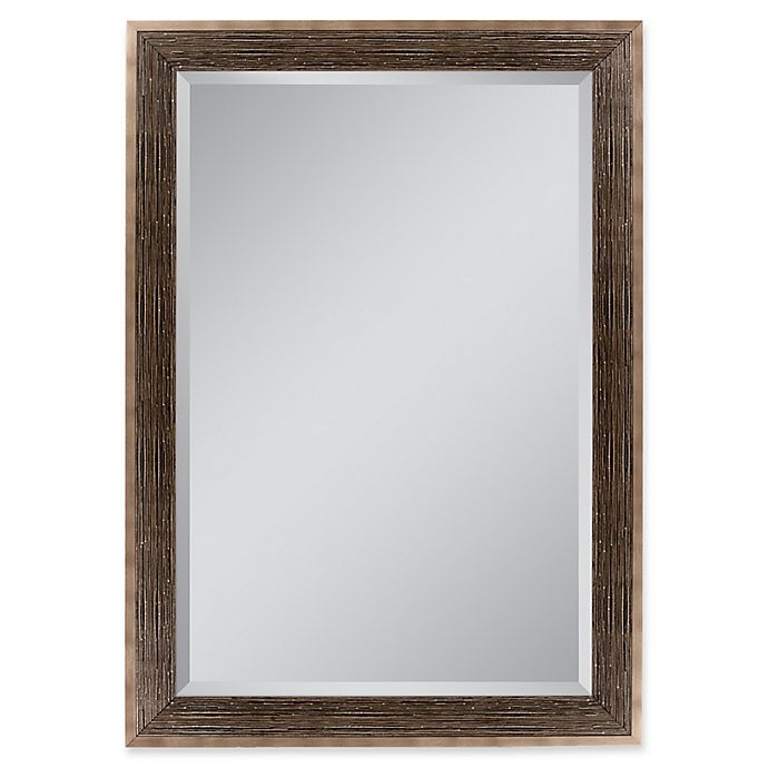 Alternate image 1 for Driftwood 35.5-Inch x 45.5-Inch Rectangular Mirror in Bronze