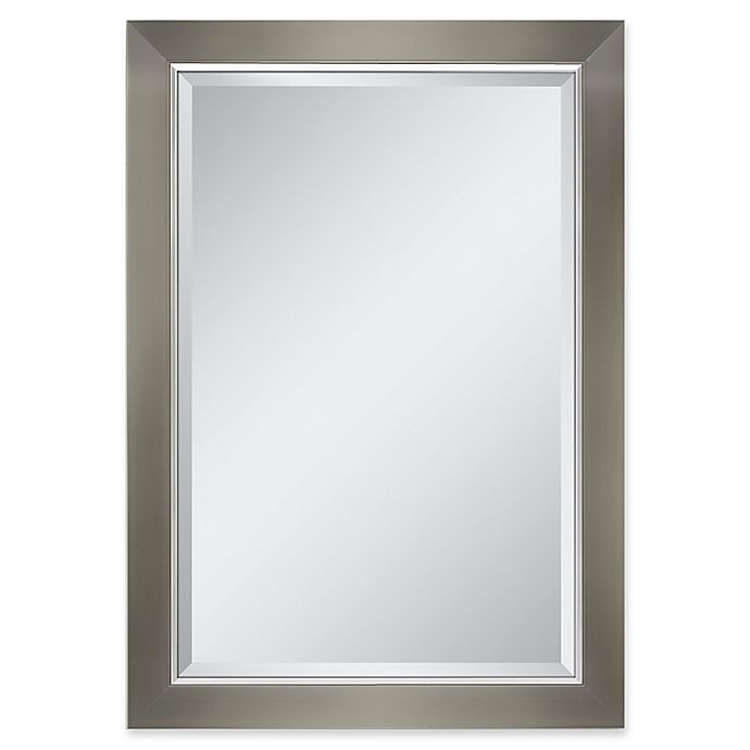 Alternate image 1 for Chrome-Lined 29.5-Inch x 41.5-Inch Rectangular Mirror in Brushed Nickel