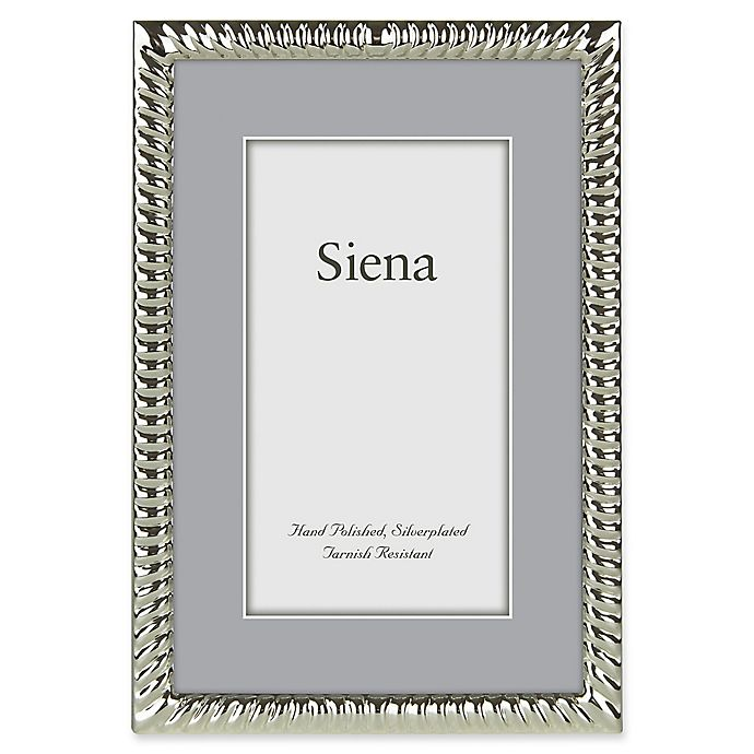 Alternate image 1 for Siena 8-Inch x 10-Inch Narrow Spiral Silver-Plated Picture Frame