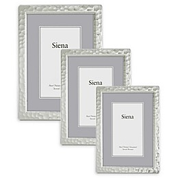 Siena Narrow Hammered Silver-Plated Picture Frame