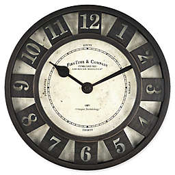 FirsTime® Barstow Wall Clock in Oil Rubbed Bronze