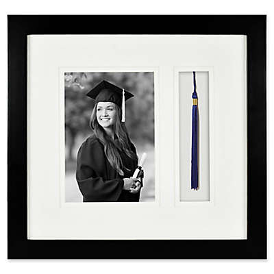 Gallery Wood Tassel 5-Inch x 7-Inch Frame in Black