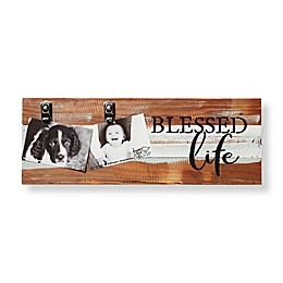 Sweet Bird & Co. Blessed Life 8-Inch x 22-Inch Reclaimed Wood Clip Frame