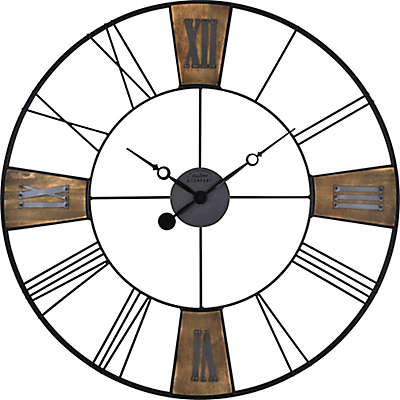 FirsTime® Reclaimed Plaques Wall Clock in Black/Wood